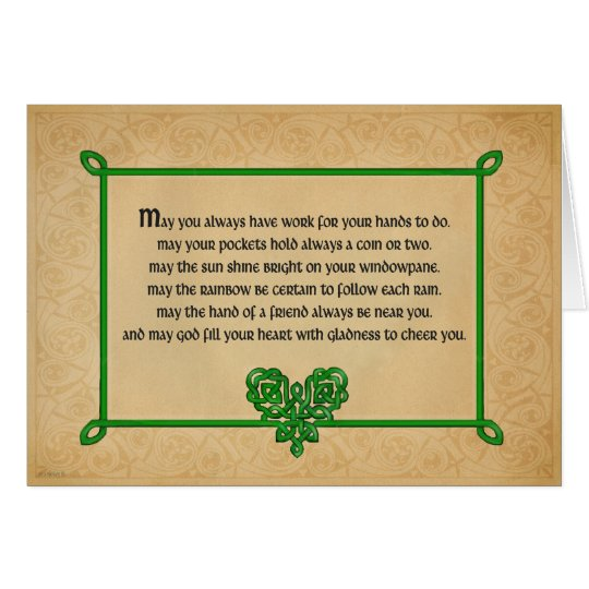 An Old Irish Blessing  Card