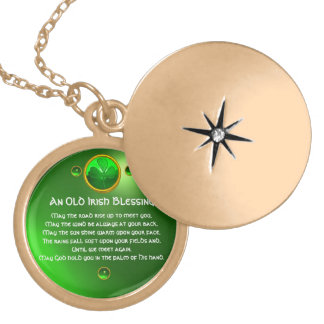 An Old Irish Blessing Gold Plated Necklace