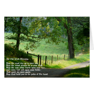An Old Irish Blessing.-Green Landscape Card