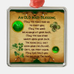 An Old Irish Blessing Parchment Metal Ornament