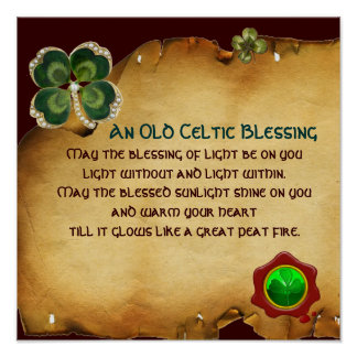 An Old Irish Blessing Parchment Poster