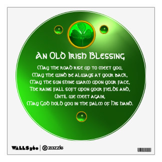 An Old Irish Blessing Shamrock Room Stickers