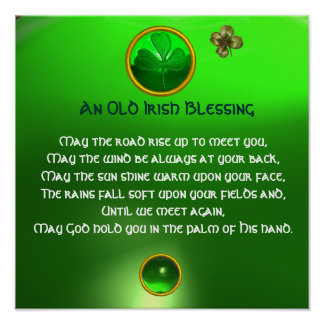 An Old Irish Blessing , Square Posters