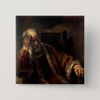 An Old Man in an Armchair Pinback Button