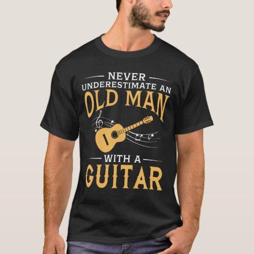 An Old Man With A Guitar T_Shirt