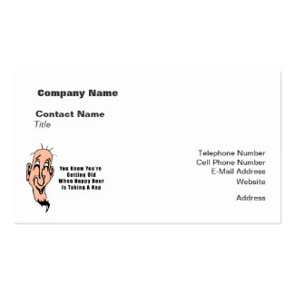 An Old Man's Happy Hour Business Card