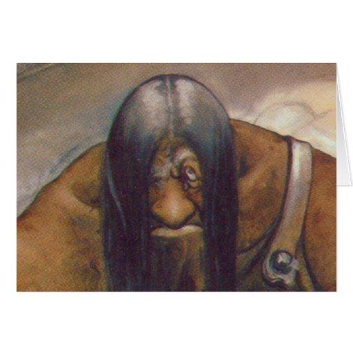 An Old Mountain Troll Greeting Card
