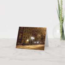 'An Old New York Winter' Card - Old-Fashioned