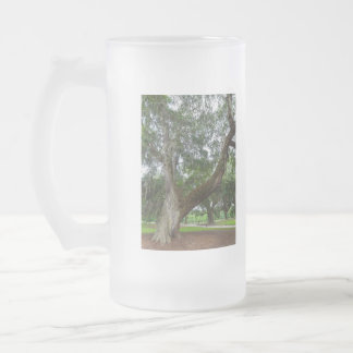 An Old Oak Tree Frosted Glass Beer Mug