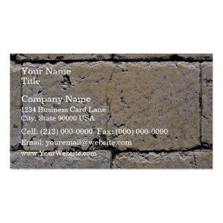 An Old Stone Wall With Cracks Business Card