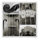 An Old Viola's Parts Photographic Print