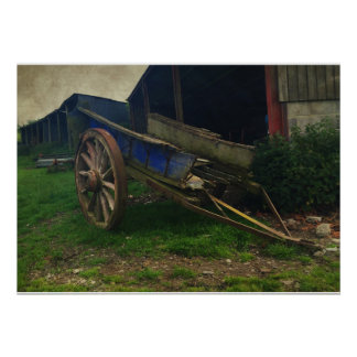 An Old Wooden Cart Poster
