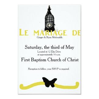 An Oldfashioned French Wedding Card