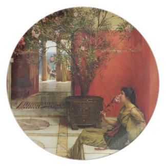 An Oleander, 1882 (oil on panel) Dinner Plate