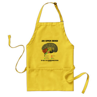 An Open Mind Is Key To Communication (Brain) Adult Apron