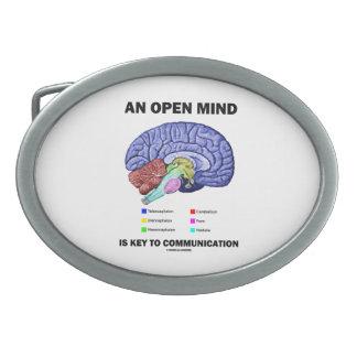 An Open Mind Is Key To Communication Brain Belt Buckle