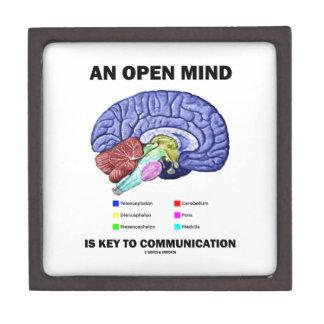An Open Mind Is Key To Communication (Brain) Jewelry Box