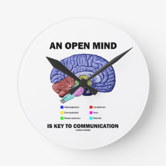 An Open Mind Is Key To Communication (Brain) Round Clock