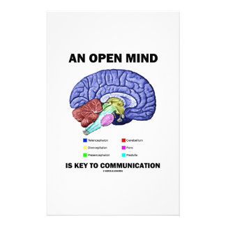 An Open Mind Is Key To Communication (Brain) Stationery