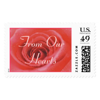 An Open Rose (1), From Our Hearts Postage