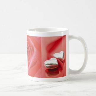 An Open Rose & Silver Hearts (1) Favor Mug