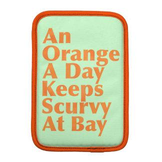 An Orange A Day Keeps Scurvy At Bay AlignedLeft iPad Mini Sleeve