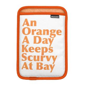 An Orange A Day Keeps Scurvy At Bay AlignedLeft Sleeve For iPad Mini