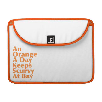An Orange A Day Keeps Scurvy At Bay AlignedLeft Sleeves For MacBooks