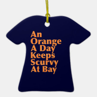 An Orange A Day Keeps Scurvy At Bay Christmas Tree Ornaments