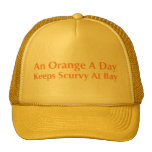 An Orange A Day Keeps Scurvy At Bay Trucker Hat