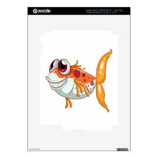 An orange fish with big eyes iPad 3 skin