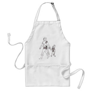 An Orc and Goblin (lined or gold) Adult Apron