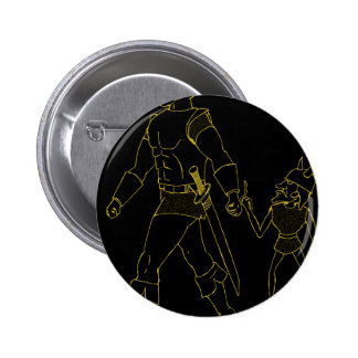 An Orc and Goblin (lined or gold) Button