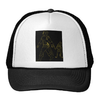 An Orc and Goblin (lined or gold) Trucker Hat