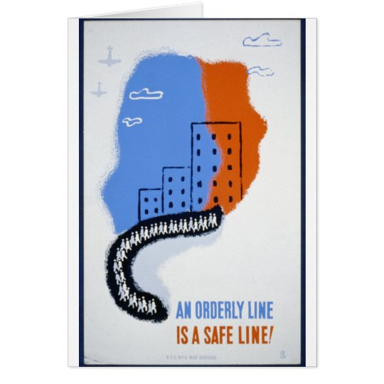An Orderly Line (Is a Straight Line) - 1942 Card