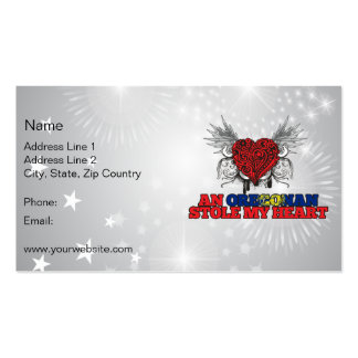 An Oregonian Stole my Heart Business Card Templates