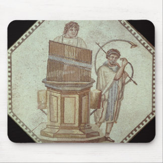 An organist and a horn player entertain mouse pad