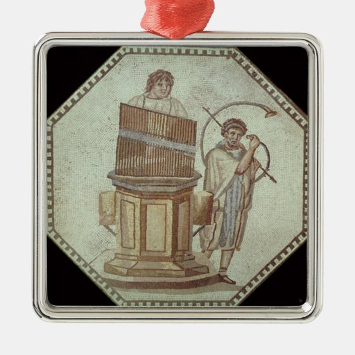 An organist and a horn player entertain ornament