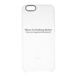 An Organized Bookshelf Clear iPhone 6/6S Case