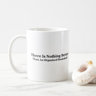 An Organized Bookshelf Coffee Mug
