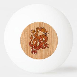 An oriental Dragon in Bamboo Ping-Pong Ball