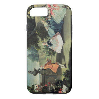 An ornamental garden with a young girl dancing to iPhone 7 case