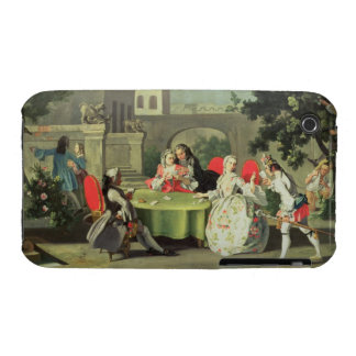 An ornamental garden with elegant figures seated a iPhone 3 Case-Mate case