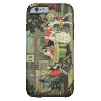 An ornamental garden with elegant figures seated a tough iPhone 6 case