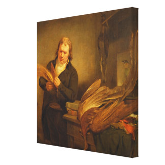 An Ornithologist, probably Mr. Thomson, Animal and Canvas Print