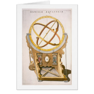 An Orrery designed by Tycho Brahe (1546-1601) from Card