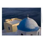 An Orthodox Church near the sea, Oia Santorini Card