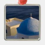 An Orthodox Church near the sea, Oia Santorini Christmas Tree Ornament