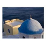 An Orthodox Church near the sea, Oia Santorini Post Cards