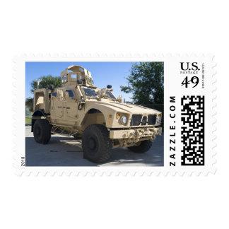 An Oshkosh M-ATV Postage Stamp